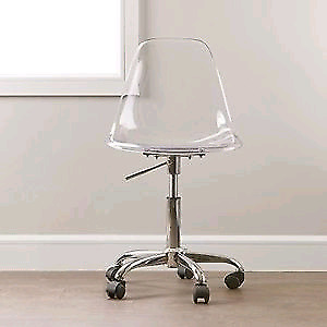 office chair acrylic makeup clear desk