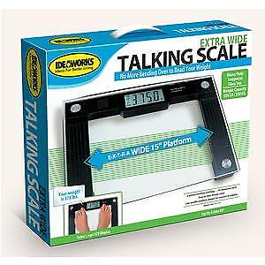 Talking Digital Scale, 15'' x 12'' x 1'' Platform, 550 lb. W