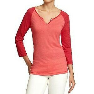 Old Navy women's coral peach baseball tee shirt Small NWT