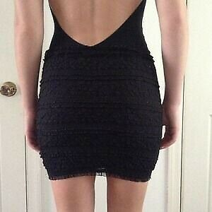 Guess bodycon stretchy mini skirt in black lace size small