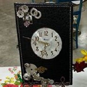 Upcylced and Repurposed Clocks; chimes; birdfeeders!