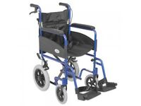 New Z-Tec lightweight aluminium wheelchair with attendant brakes (CE approved)