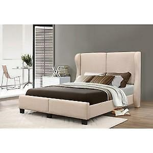 Beige Fabric Bed web exclusive deal (IF739)