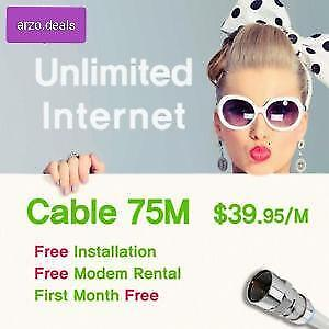 High Speed Unlimited Internet $39