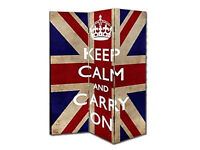 Room divider *KEEP CALM AND CARRY ON* - Excellent condition