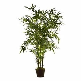 Next gorgeous artifical bamboo plant tree pre lit