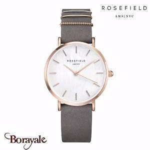 ROSEFIELD THE WEST VILLAGE ELEPHANT GREY ROSE GOLD HORLOGE WEGR Wegr-w75