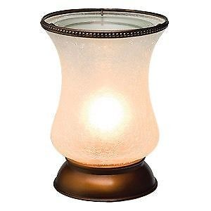 Scentsy white crackle tulip lamp warmer - brand new in box