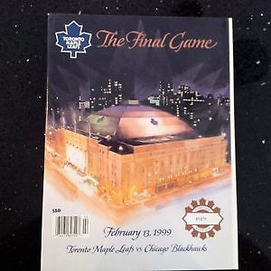 Maple Leaf Gardens Program - The Final Game