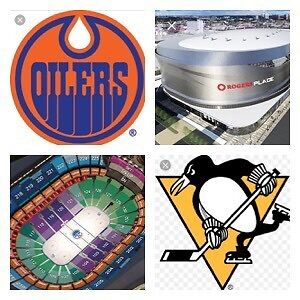 2/4 Tickets, Oilers vs Penguins, Friday March 10
