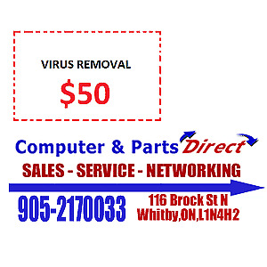 Virus and Spyware Removal $50