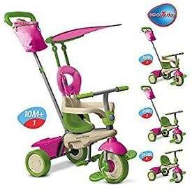 Smart trike 4 in 1 tricy in pink and green suitable from 10 months.