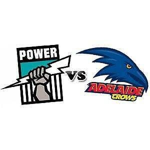 4  ADELAIDE CROWS V PORT ADELAIDE POWER SHOWDOWN TICKETS $99 EACH Urrbrae Mitcham Area Preview