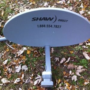 24' SHAW DIRECT HIGH DEFINITION SATELLITE DISH WITH XKU QUAD LNB