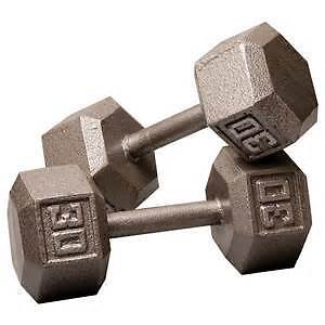 WANTED TO BUY DUMBELLS.10LBS AND UP