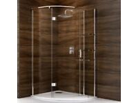 Shower Cabinet and Tray with Waste