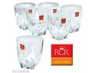 CRYSTAL WHISKEY TUMBLERS GLASSES NEW IN THE BOX