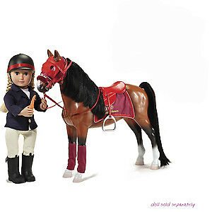 toy NEW LARGE HORSE WITH ACCESSORIES FOR DOLL 18""