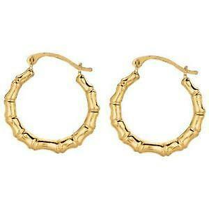 10k Gold Bamboo Earrings