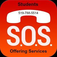 Students offering services