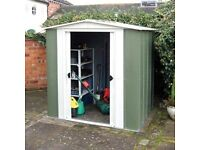 6 x 5 Arrow Steel Shed. Apex. Flatpack.