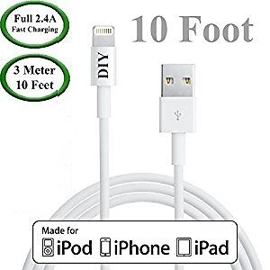 Apple Certified MFI USB Lightning Cable 10ft
