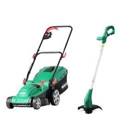 Lawn mower and strimmer set electric.