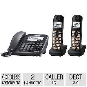 Apr25 - Panasonic DECT 6.0 Cordless Phone With Answering Machine