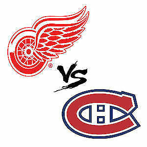 (2X2) BILLET TICKET CANADIENS DÉTROIT CENTER 302A 303A GRIS