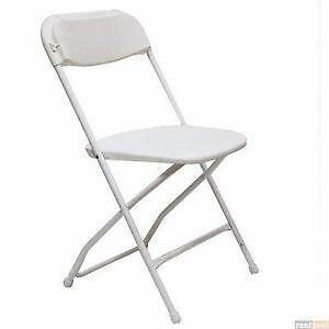 white folding chairs | ebay