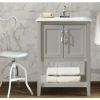 "24"" VALERIE - WHITE - SINGLE SINK BATHROOM VANITY"