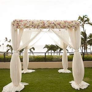 BEACH CEREMONY PACKAGES,BAMBOO CANOPY,CHAIR COVERS HIRE,SASHES Palm Beach Pittwater Area Preview
