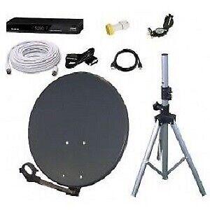 ★ Parts ★ Satellite Dish FTA Quad LNB Disque DB9 Bell RG6 Switch