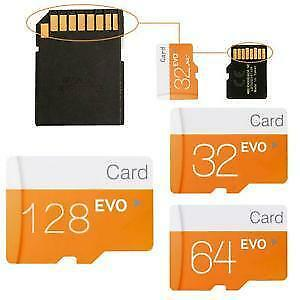 Micro SD Card + Adapter - 8Gb/16Gb/32Gb/64Gb/128Gb/256Gb - Brand new - For Phone/Laptops