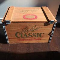 limited edition wooden john labatt beer case