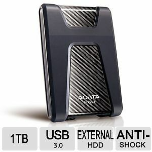 "ADATA 1 TB 2.5"" Anti-Shock External Hard Drive USB 3.0 HD650"