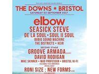 2 x Elbow Tickets - Downs Festival, Bristol!!!