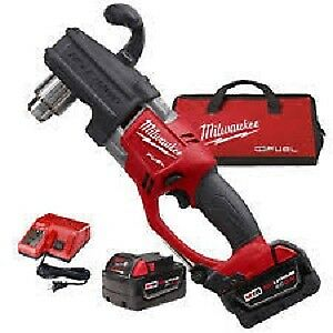 "New Milwaukee M18 Hole Hawg 1/2"" Chuck Right Angle Drill Kit"
