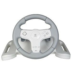 Nintendo Wii LOGITECH Speed Force E-VC12 Wireless Steering Wheel