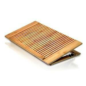 Macally Ecofan adjustable bamboo cooling stand for laptop