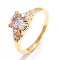 Ladies 10K Gold Filled Sapphire Engagement Ring Sz 7.25 - New