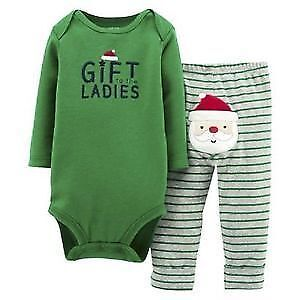 Carters Christmas long sleeve 2 pc baby set Newborn Brand New
