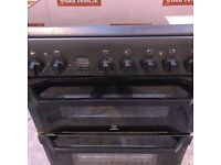 60cm indesit double oven electric cooker #7089