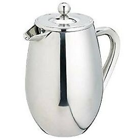 Double Walled Cafetiere Stainless Steel (8 Cup - 1 Litre) by Kitchen Craft