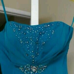 Aqua Blue Grad/Prom/Bridesmaid dress
