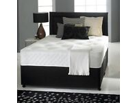 Brand new double faux leather divan bed