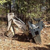 Excavator attachment for skidsteer