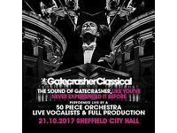 Gatecrasher classical 2 x tickets stalls