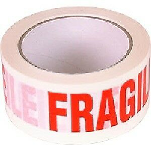 Fragile Printed Tape - 48mm x 40m (1 SET OF 12)