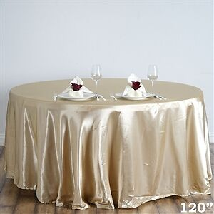 "25 CHAMPAGNE 120"" TABLECLOTHS FOR WEDDING"